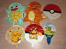 Large Pokemon, Charmander, Squirtle, Pikachu Balloon Sets (6 pieces) US SHIP