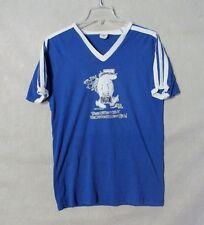 Z8545 Men's Bantam Blue w/ Reese James Cartoon Graphic Short Sleeve Shirt-XL