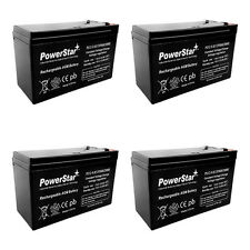 HIGH RATE 12V 9.0AH SLA Battery replaces ep1234w - 4PK 3 YEAR WARRANTY