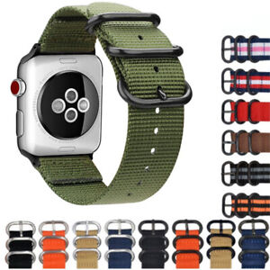 Nylon Canvas Fabric Wrist Watch Band Strap Bracelet Sport Classic Buckle 18-24mm