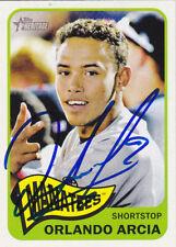 Orlando Arcia Brevard County Manatees Signed Baseball Card Milwaukee Brewers