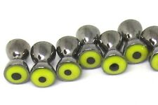 """10) 1/4"""" REAL EYES fly tying BARBELL EYE 6.3mm extra-large black w/ yellow iris"""