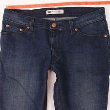Señoras MUJERES Levis 524 SUPERLOW delgados elastizados Blue Jeans TOO W31 L30 Talla 12