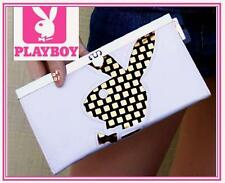 PLAYBOY GIRLS NEXT DOOR BUNNY CLUTCH WHITE GOLD bag wallet purse id organizer