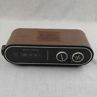 Vintage Retro Solid State Digital Alarm Clock AM FM Radio  ~ WH-105