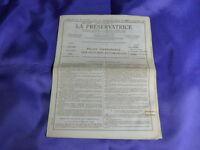 la préservatrice ,police d'assurance  des voitures automobiles 1954           c1