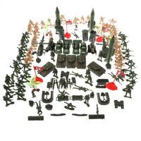 Plastic Military Playset, 158pcs 5cm Soldier Army Men Figures in Storage Bag