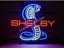 Shelby Mustang Cobra Ford GT Real Glass Neon Sign Beer Bar Light