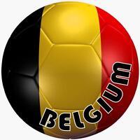 decal sticker car bumper flag team soccer ball foot football belgium