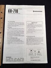 "Kenwood kr-710 Stereo Receiver ""Original"" Betriebsanleitung kr710"