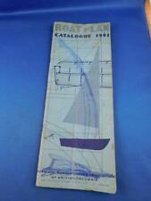 BOAT PLAN CATALOG 1961 PLYWOOD MANUFACTURERS ASSOCIATION BRITISH COLUMBIA