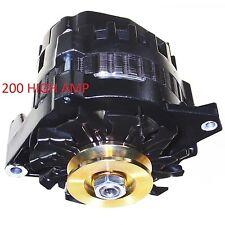 HIGH OUTPUT BLACK ALTERNATOR FIT CHEVY Blazer GM 200 AMP 1-WIRE 1965-1985 Camaro