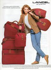 Publicité 1992  LANCEL sac à main bagage valise collection mode