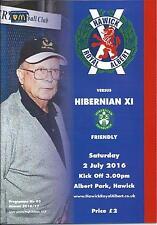 2 JULY 2016 HAWICK ROYAL ALBERT v HIBERNIAN (HIBS) XI