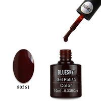80561 Bluesky Salon Nail Polish UV GEL Glaze Forbidden VIP Chestnut Brown 561