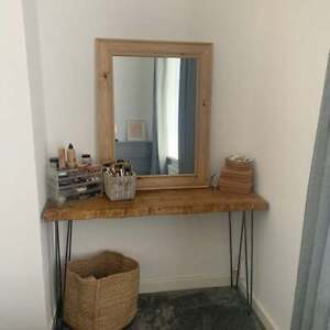 Rustic Dressing Table with Hairpin Legs Depth 34cm