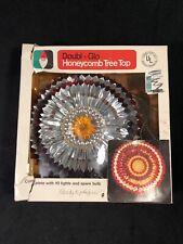 Vintage Doubl Glo Honeycomb Christmas Tree Topper 10 Lights Original Box Works