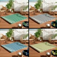 Osaya Geometric Garden Patio Decking    Indoor Outdoor Rectangle Rug 120 x 180cm