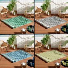 Osaya Geometric Garden Patio Decking    Indoor Outdoor Rectangle Rug 120 x 180cm