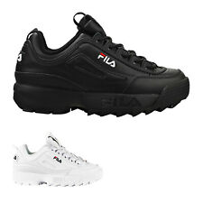 Fila Disruptor II Premium Leather Synthetic Womens Mens Unisex Trainers
