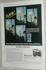 1972 Honeywell Pentax ad, Spotmatic 35mm camera