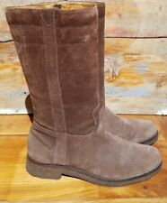 Eddie Bauer 'Diane' Brown Suede Mid Shaft Boots Size 9 /39 Gum Sole