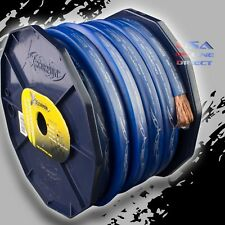2 Gauge 20 ft. BLUE Power Ground OFC Wire Strand Copper FLAT Marine Cable AWG