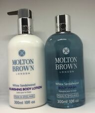 Molton Brown White Sandalwood Nourishing Body Lotion & Body Wash 300ml new