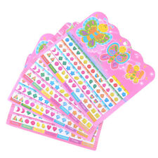 2 Sheet =120PCS Diy Sticker Toys Children Stickers Head Earring CartoonReward JO