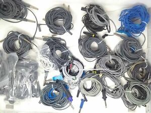 Lot of 57 Monopolar Cautery Cords CW Storz Snowden Pencer Alcon R. Wolf Stryker