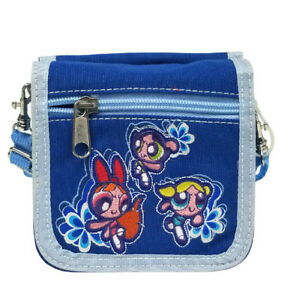 Warner Bros Power Puff Girls Blue Girls String Purse/Cross Shoulder Bag/Wallet