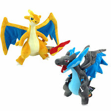 2X Mega Charizard X & Y Fire Dragon Pokemon Plush Soft Toy Stuffed Animal 10""