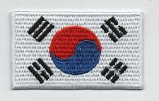 Embroidered SOUTH KOREA Flag Iron on Sew on Patch Badge HIGH QUALITY APPLIQUE