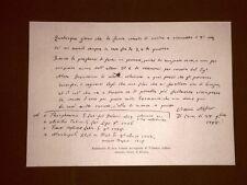 Fac simile Lettera autografa del poeta Vittorio Alfieri del 1798