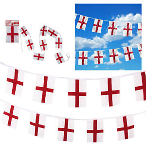 Euro 2020 England Football St George Flags Bunting British Party Accessories