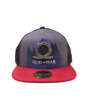 OFFICIAL GOD OF WAR METAL SYMBOL SUBLIMATION PRINT SNAPBACK CAP (NEW)