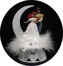 Disney Princess Little Mermaid Prince Eric Wedding Cake Topper Fariytale WHITE
