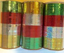 Christmas Metallic Curling Ribbon 3 Pack