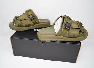 Seichi Yoroi Slides Army Green Sandals Culture Kings FREE GIFTS Men's 10 NEW
