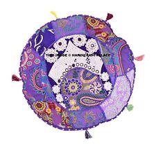 "Indian Mandala Pillow Case Round Kantha Cushion Covers Sofa Chair Use Decor 16"""