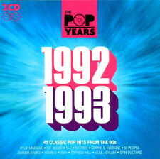 THE POP YEARS 1992 ~ 1993 NEW SEALED 2 CD SET 40 ORIGINAL GREATEST HITS OF 90's