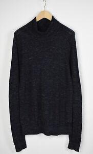 CALVIN KLEIN JEANS Men X LARGE Linen Blend Stretch Turtle Neck Sweater 30457-GS