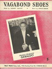 VAGABOND SHOES Geraldo Sammy Gallop David Saxon VINTAGE SHEET MUSIC DA