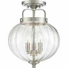 Quoizel MID1712BN Middleton 3 Light Brushed Nickel Semi-Flush Mount