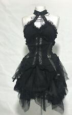 Deiselpunk  Goth High Neck Dress With Front Cut Out  In Size Uk 12