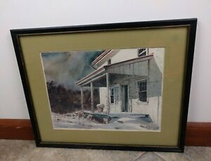Mildred Sands Kratz First Snow Museum Print Cardi Artwork Winter Country Prop