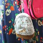 Card Case Key Purse Wallet Cute Mini Canvas Backpack Coin Bag Floral Flower L