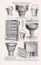 Milchproduktion Milchgewinnung Milchwirtschaft Tafel um 1910 Kuhstall