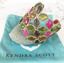 Kendra Scott Paley Faceted Stone Crystal Cuff Bracelet Muti Collectors Rare