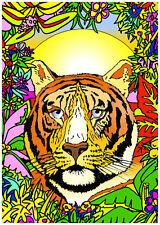 Tableau à colorier en velours - TIGRE - Neuf